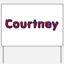 Courtney Red Caps Yard Sign