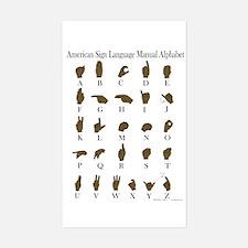ASL Alphabet Sticker (Rectangle)