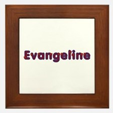 Evangeline Red Caps Framed Tile