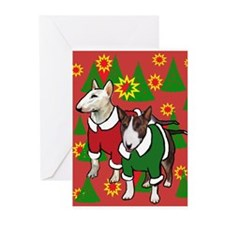 Bull Terrier Christmas Greeting Cards