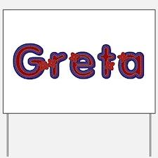 Greta Red Caps Yard Sign