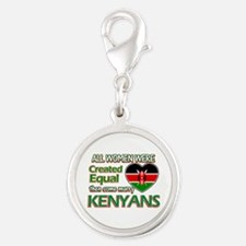 Kenyan husbands designs Silver Round Charm
