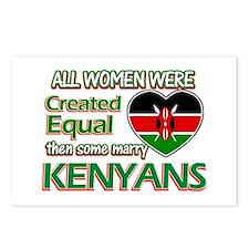 Kenyan husbands designs Postcards (Package of 8)