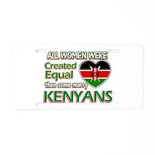 Kenyan husbands designs Aluminum License Plate