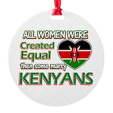 Kenyan husbands designs Round Ornament