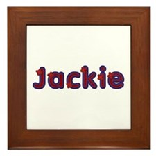 Jackie Red Caps Framed Tile