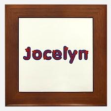 Jocelyn Red Caps Framed Tile