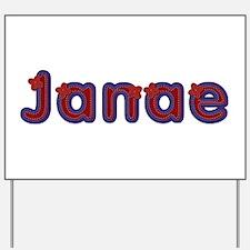 Janae Red Caps Yard Sign