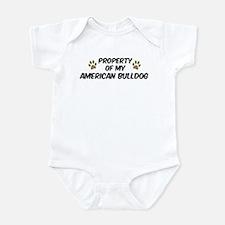 American Bulldog: Property of Infant Bodysuit