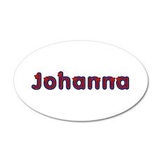 Johanna Red Caps Wall Decal