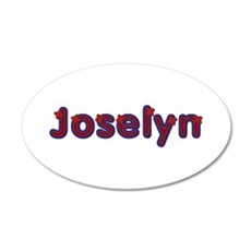 Joselyn Red Caps 20x12 Oval Wall Decal