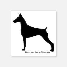 """Doberman Rescue  Square Sticker 3"""" x 3"""""""