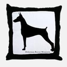 Doberman Rescue  Throw Pillow
