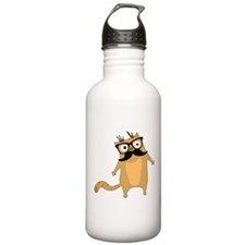 Hipster Cat Water Bottle