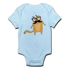 Hipster Cat Body Suit