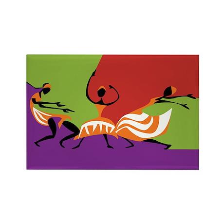 Caribbean Limbo Dance Rectangle Magnet (100 pack)