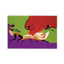 Caribbean Limbo Dance Rectangle Magnet
