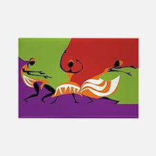 Caribbean Limbo Dance Rectangle Magnet