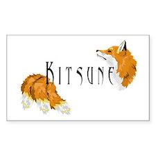 Kitsune Rectangle Decal