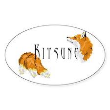 Kitsune Oval Decal