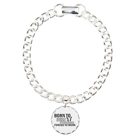 Irish step dance designs Charm Bracelet, One Charm
