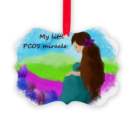 My Little PCOS Miracle Picture Ornament