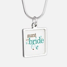 Lovely Aunt of the Bride Silver Square Necklace