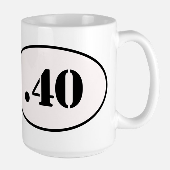 .40 Oval Design Large Mug