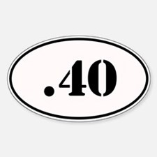 .40 Oval Design Decal