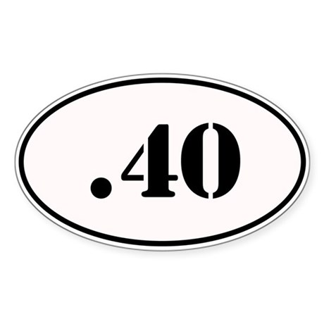 .40 Oval Design Sticker (Oval)