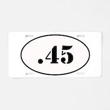 .45 Oval Design Aluminum License Plate