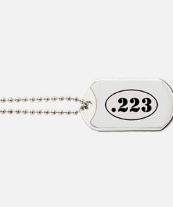 .223 Oval Design Dog Tags