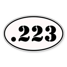 .223 Oval Design Decal