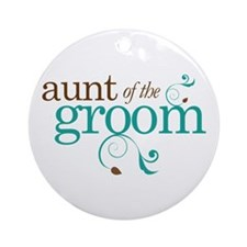 Aunt of the Groom Gift Ornament (Round)