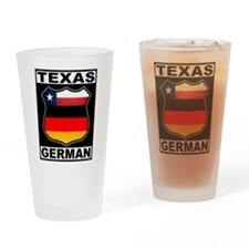 Texas German American Drinking Glass