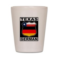 Texas German American Shot Glass