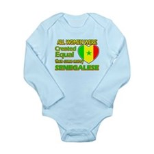 Senegalese Husband designs Long Sleeve Infant Body