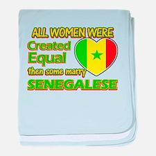 Senegalese Husband designs baby blanket