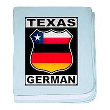 Texas German American baby blanket