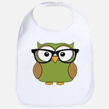Funky Hipster Owl Bib