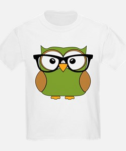 Funky Hipster Owl T-Shirt