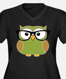 Funky Hipster Owl Plus Size T-Shirt