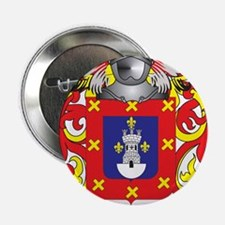 "Molina Coat of Arms - Family Crest 2.25"" Button"