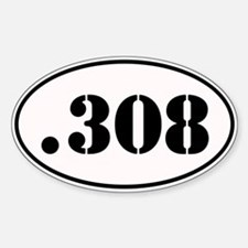 .308 Oval Design Decal