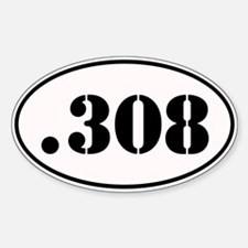 .308 Oval Design Sticker (Oval)