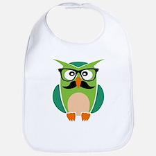 Hipster Owl Bib