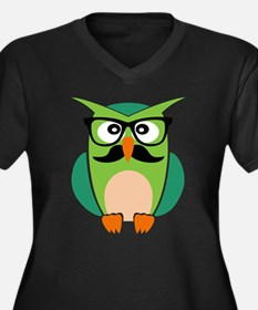 Hipster Owl Plus Size T-Shirt