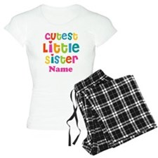 Cutest Little Sister Personalized Pajamas