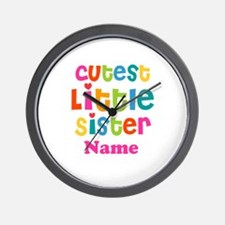Cutest Little Sister Personalized Wall Clock