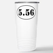 5.56 Oval Design Travel Mug